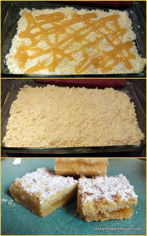 The making of Austrian Shortbread Lemon Bars