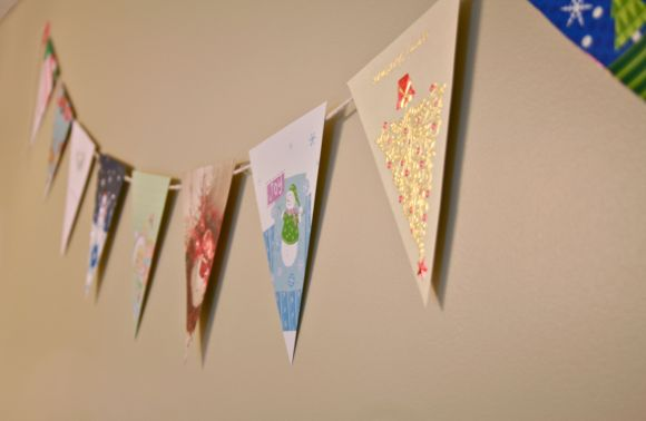 DIY Christmas bunting flag
