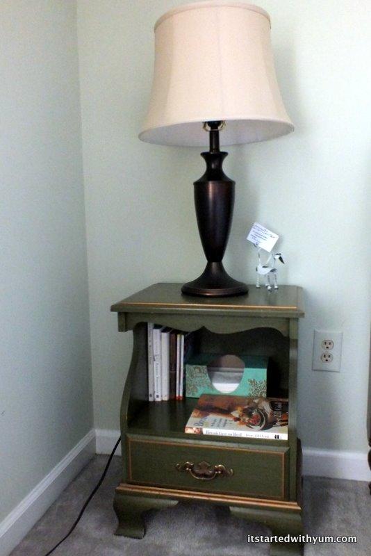Guest bedroom nightstand #1