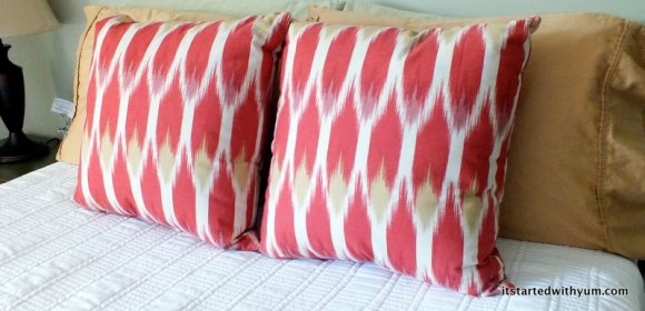 Ikat Accent PIllows in guest bedroom