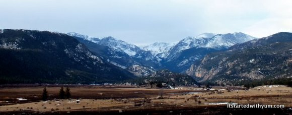 This is on the way from Estes Park to Colorado Springs. Mountain views never get old.