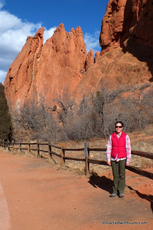 Enthralled by the enormous red rock formations at Garden of the Gods outside Colorado Springs.